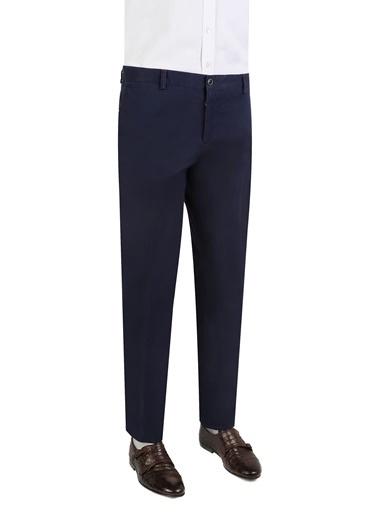Damat Slim Fit Düz Kumaş Pantolon Lacivert